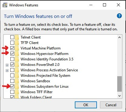 Windows Features